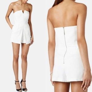 Top Shop white strapless romper mini dress